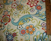 "Peacocks and flowers design print 2 yard by 44"" wide"