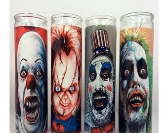 Chucky Chuck Hodi Horror Prayer Candle