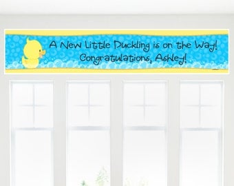 Ducky Duck Banner - Custom Party Decorations