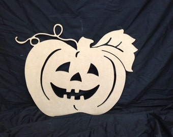 Wooden Halloween Pumpkin Decor/Wall Hanging