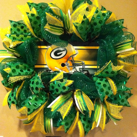 Green Bay Packers Wreath Packers Sport Wreath By