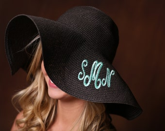 Custom Monogram Floppy Hat - Preppy Headwear