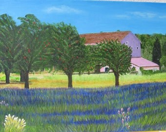 Lavender in the Provence Oil Painting