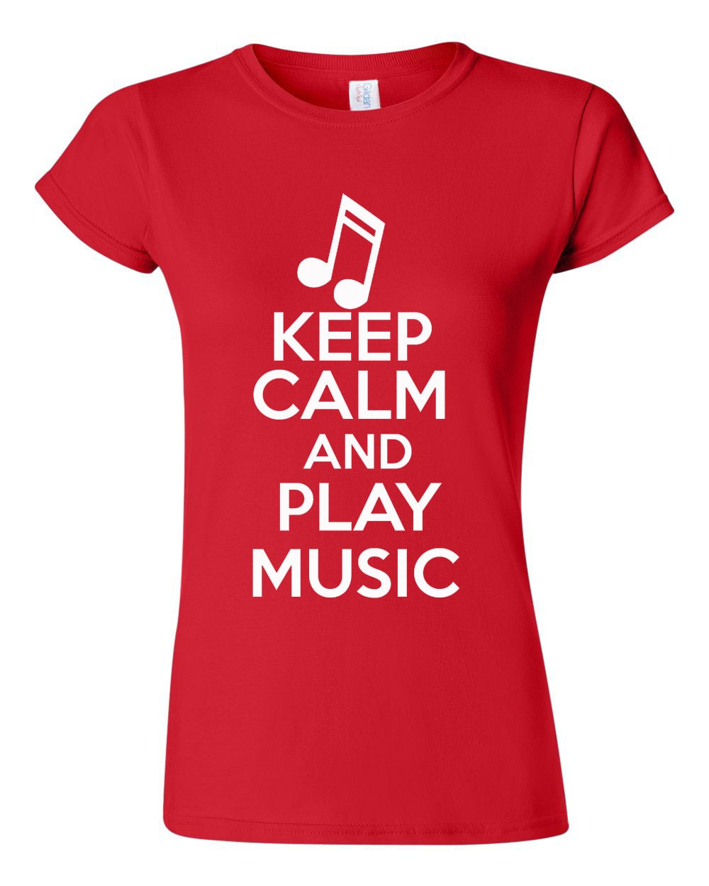 City Shirts Junior Keep Calm And Play Music Musician Novelty Statement T-Shirt Tee at Sears.com