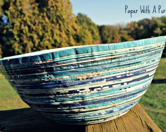 Blue Magazine Paper Bowl