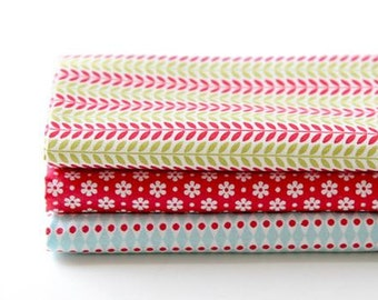 Daily Christmas - Quarter Fabric Pack 3 Fabric 1set - Sets for 3 each 45 X 55 cm