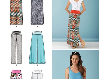 Simplicity Sewing Pattern 1367 Misses' Slim Maxi Skirt, Wide Leg Pants, and Shorts