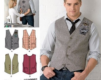 Simplicity Sewing Pattern 2346 Men's Vests