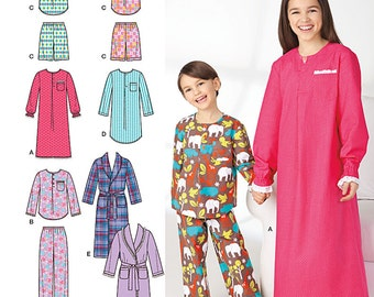 Simplicity Sewing Pattern 1570 Child's, Girls', and Boys' Loungewear