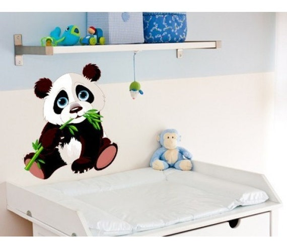 Harga Wall Sticker Deco : Baby panda nursery wall decal deco sticker mural vinyl
