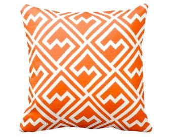 7 Sizes Available: Euro Pillow Covers Decorative Throw Pillows Orange Pillow Greek Key Pillow Geometric Pillows