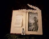 "Postcard of the original book sculpture ""Melancholy"" evening"