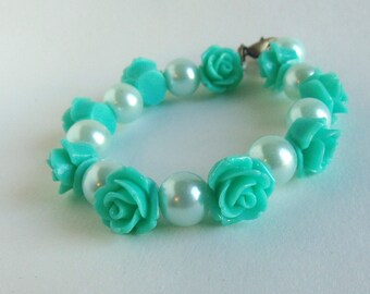 Mint Rose bracelet