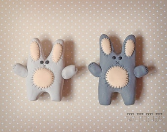 Fridge magnets, bunny fridge magnets