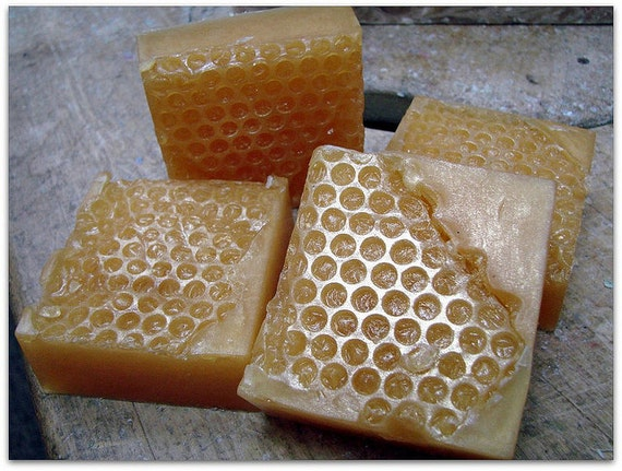 Honeycomb Soap Bars, Honey Scented Honeycomb Soap, Honeycomb Shaped ...