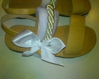 Decorated Handmade leather sandals
