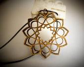 Sunflower Mandala | Lasercut Pendant