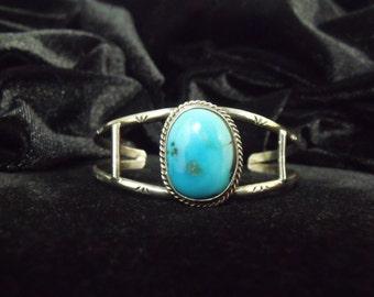 1970s Navajo Turquoise Bracelet