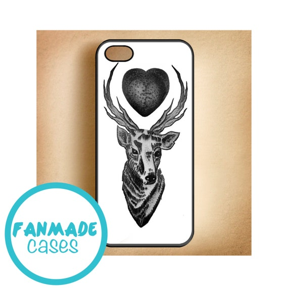 Elk heart tattoo iphone 4 4s 5 5s 5c 6 6 plus ipod by for Tattoo artist iphone cases