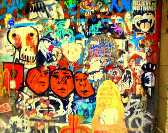 "PHOTOGRAPHY GRAFFITI BARCELONA / street art / decoration / Photo-Graff / Barcelona / 14 x 11 """