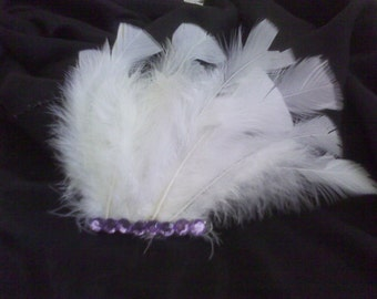 Feather and Crystal Fascinator