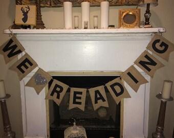 We love Reading banner~Classroom banner~Custom teacher/Librarian Banner