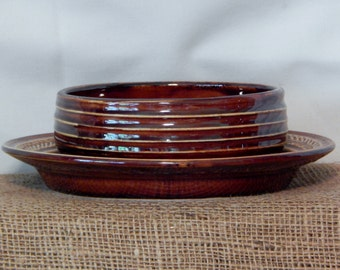 Hall Pottery bowl and plate