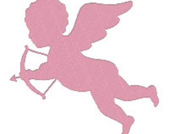 BUY 2, GET 1 FREE - Valentine's Day Cupid Silhouette, Love is in the Air Fill Machine Embroidery Design - 3 Sizes 4x4, 5x7, 6x10