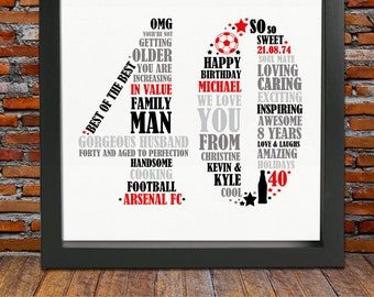 40th Birthday Gift for Him - 40th birthday, 40th birthday gift, 40th ...