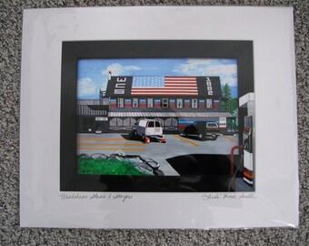 "Giclee Print; ""WARDSBORO STARS & STRIPES""; 16 x 20"