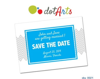 Wedding Announcement Templates and Save the Date - INSTANT DOWNLOAD