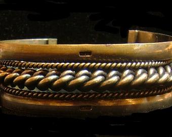 Bedouin Sinai metal cuff, 2 1/4 inches inside dimension, Egypt