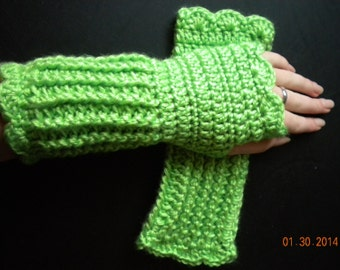 Soft, Warm, & Practical Wrist Warmer- Lime Green