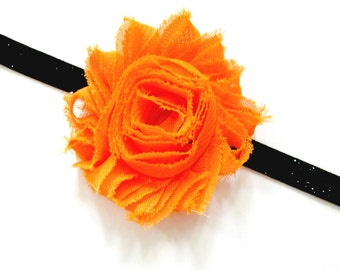 Orange and Black Headband, Halloween Baby Headband, Toddler Headband, Newborn Headband, Halloween Headband, Orange Headband