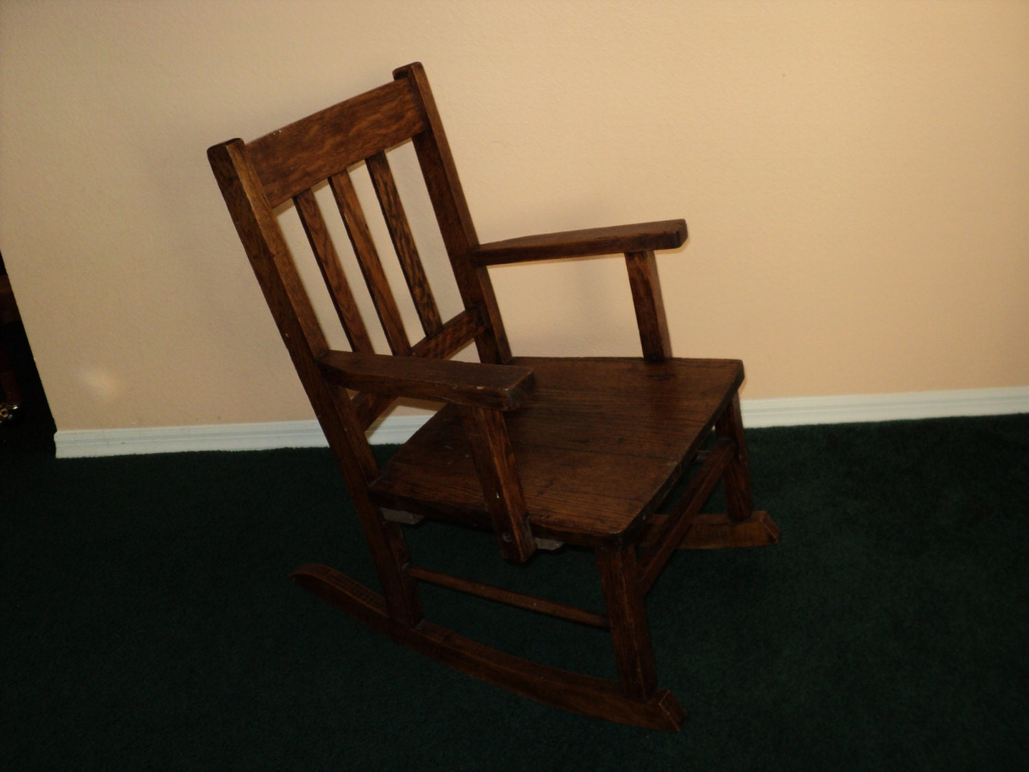 vintage child rocking chair mission style armchair by capecats