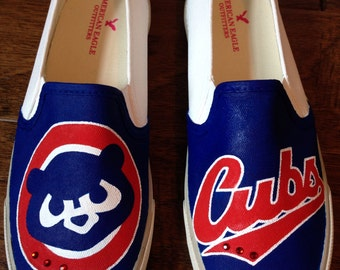 Custom Hand Painted Chicago Cubs Shoes