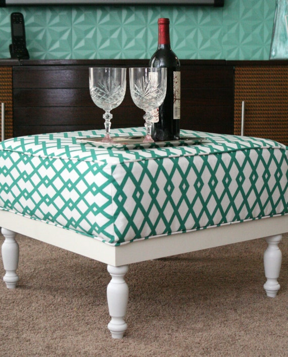 Handmade Upholstered Ottoman Coffee Table By Bennuhomencrafts