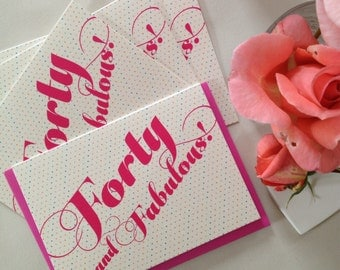 Forty and Fabulous card (064)