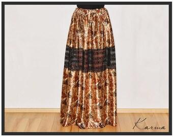 Skirt - Unique See Through Legs High Waist Maxi Skirt In Gold