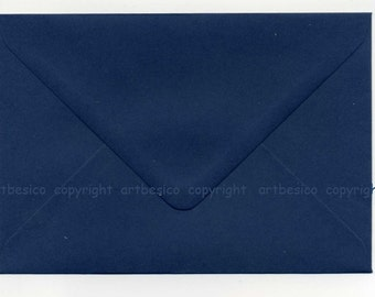 Navy envelopes, size C6 envelopes x 50