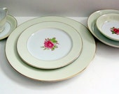 FUJI Rosette China Japan 7 Piece 10 place settings