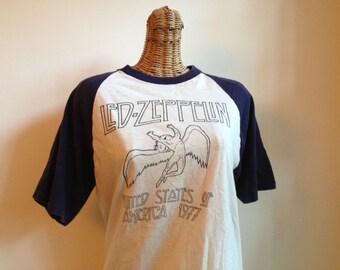 Super Rare Original Led Zeppelin vintage 1977 concert tour shirt