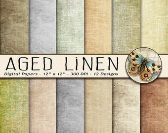 Linen Digital Paper, Shabby Chic Paper, Grunge Linen Paper, Digital Fabric Paper, Linen background, Digital Linen a Texture