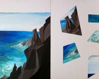 Paint seascape Artetpuzzle acrylic paint