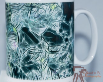 Blue Orchid Ceramic Mug