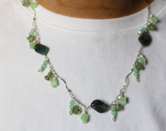 Mixed Greens Necklace