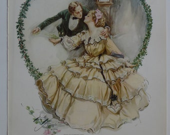 1909 American Beauties Print - Harrison Fisher - original vintage art book print