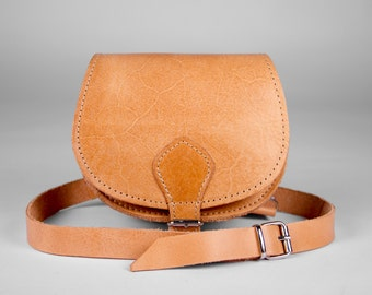 Handmade Small Cross Body leather bag.