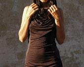 Black Night Walker Hooded Dress