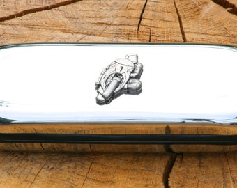 Motorbike Metal Pen Case & Ball Point Set Personalisable Gift